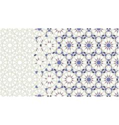 Arabesque mosaic border patternbackground vector