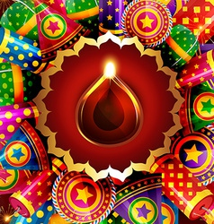 Attractive background of diwali vector
