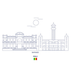 Bamako city skyline vector