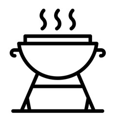 Barbecue grill icon outline style vector