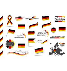 Big set german ribbons symbols icons and flags vector
