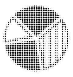 black dotted pie chart icon vector image