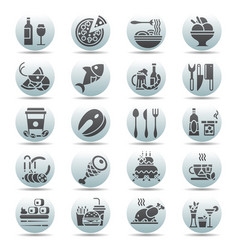 black on white circle button set of flat vector image vector image