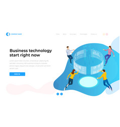 business technology start right now isometric vector image