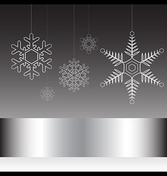 Christmas card black and white vector image