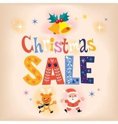 Christmas sale retro design vector image