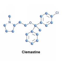 Clemastine antihistamine and anticholinergic vector
