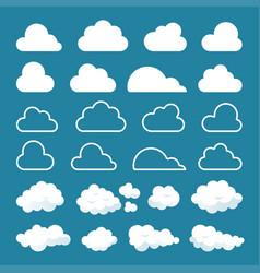 clouds doodles set vector image