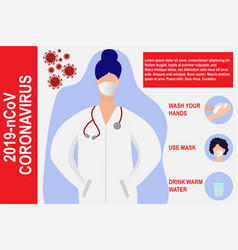 Coronavirus pandemic epidemic modern design vector