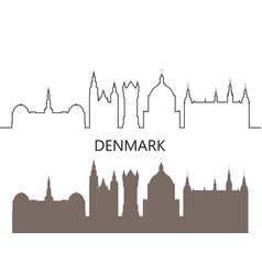 denmark vector image