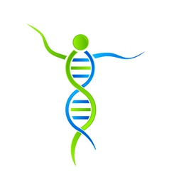 DNA person Logo vector