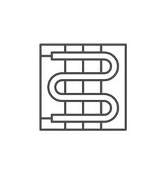 Electric warm floor line icon vector