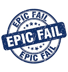 Epic fail blue grunge round vintage rubber stamp vector