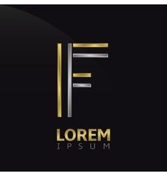F letter logo vector