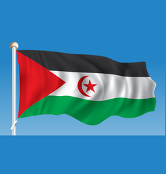 Flag of western sahara vector