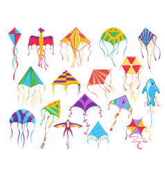 flying wind kite with tail vector image