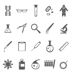 Genetic icons gray vector image