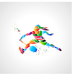girl badminton player abstract eps vector image