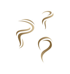 golden stylish p initial letter p logo graphic vector image