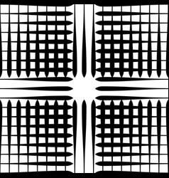 Grid mesh pattern with irregular lines vector