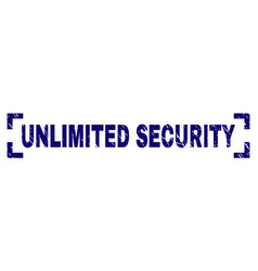 Grunge textured unlimited security stamp seal vector