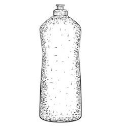 Hand drawn bottle vector