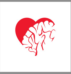 Heart and brain template vector