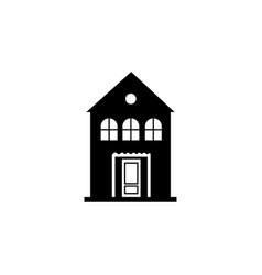 house building icon vector image