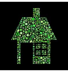 house shape vector image