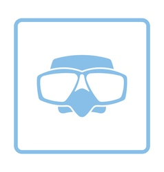 Icon of scuba mask vector