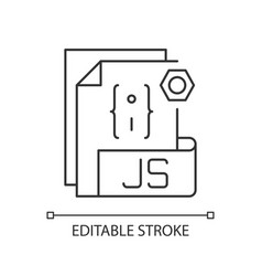 js file pixel perfect linear icon vector image