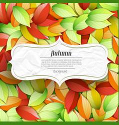 light autumn seasonal poster vector image
