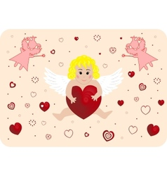 Little angel with big heart vector