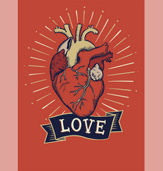 Love concept t-shirt print and embroidery vector