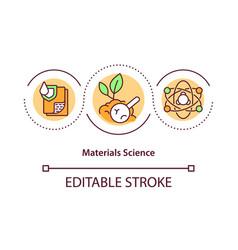 Materials science concept icon vector