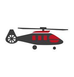 military rescue helicopter icon image vector image