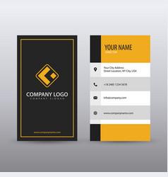 Modern creative vertical clean business card vector