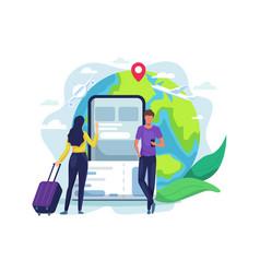 Online booking ticket concept vector