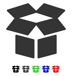 Open box flat icon vector