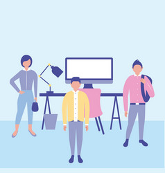 outdoor business people vector image
