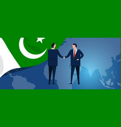 pakistan international partnership diplomacy vector image