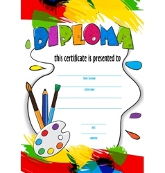 Pattern childrens diploma for delivery on a vector