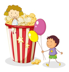 Popcorn Kids Background vector