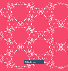 Red background with floral pattern vector