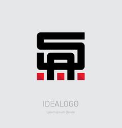 sa - initials or logo a and s - monogram vector image