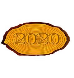 Sawn log 2020 vector