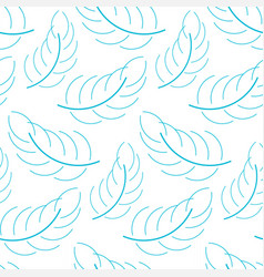seamless feather background vector image