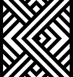 seamless pattern with black and white diagonal vector image