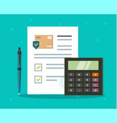 Shipping insurance freight calculator cargo vector