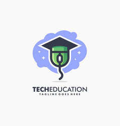 tech education sport concept design vector image